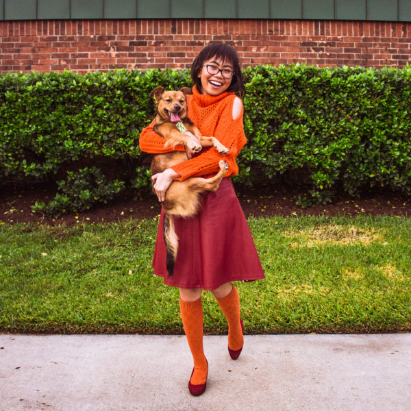 Easy DIY Scooby Doo Dog and Owner Halloween Costume