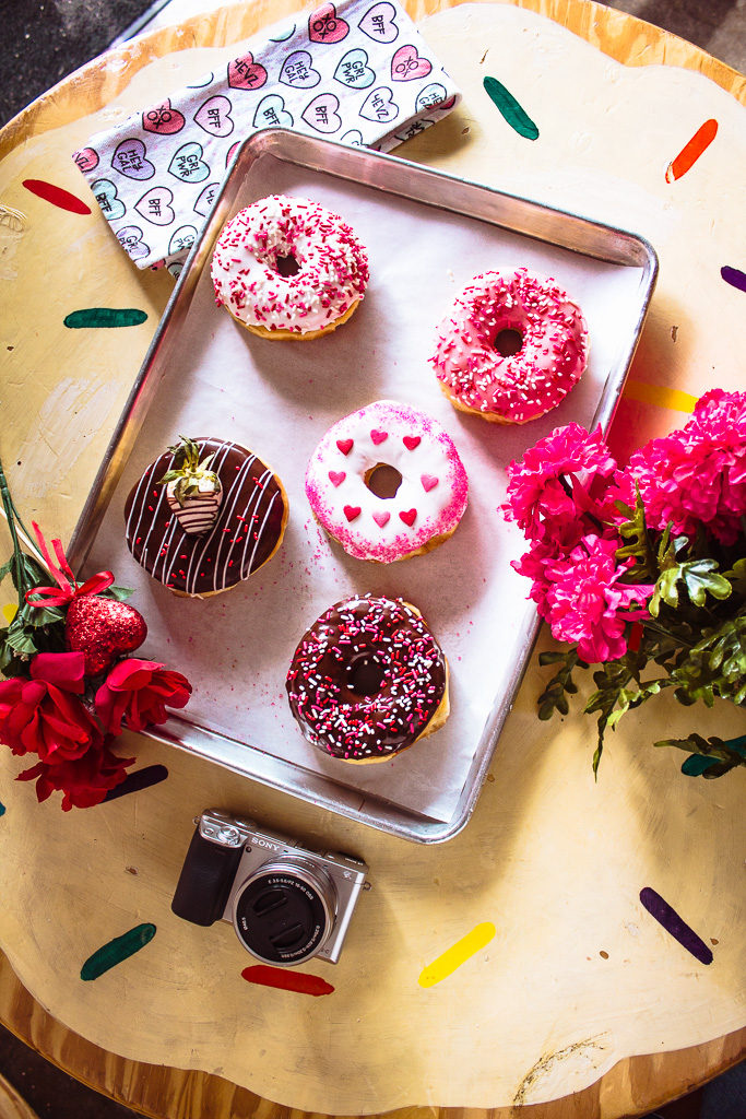 Hugs and Donuts Valentine's Day Donuts Reesa Rei